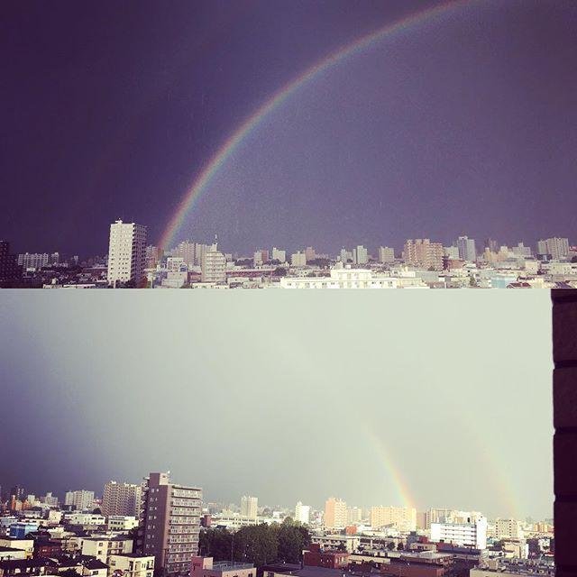 大きい #虹 だったー!しかもダブル。
