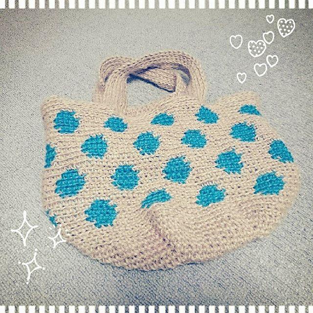 自分用の #麻紐バッグ 、やっと完成♪腱...