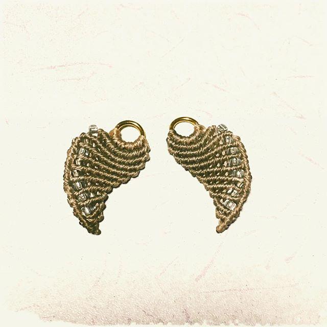 天使の羽♡#マクラメ #macrame  #angelwing